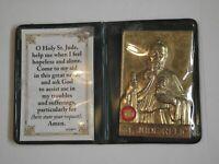 As Is medal pocket shrine St Jude hopeless cases relic prayer card folder