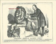 1863 Punch Cartoon Beecher's American Soothing Syrup for British Lion