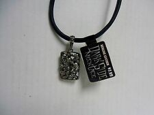 "Dark Side Biker 18"" Leather Necklace, Skull Pile, BRAND NEW"