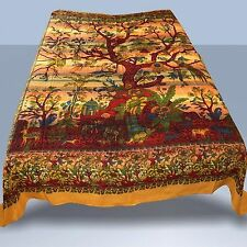 Tagesdecke-LEBENSBAUM Wandbehang Dekotuch Baum des Lebens, Gelb-Orange 01