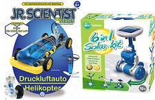 Experimente Action Energie Luftdruckmotor Auto Heli + Solarzellen 6in1 Modelle