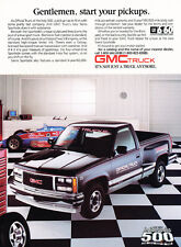 1988 GMC Sierra Truck Indy 500 - garage -  Classic Advertisement Print Ad H52J76