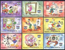 Maldives 1984 Disney/Donald Duck/Portraits/Painting/Animation/Cartoons 9v b1872