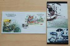 2004 Malaysia Traditional Transport Overprint KL Stamp Show Miniature Sheet FDC
