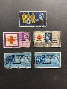 1963-Great Britain Stamps,Sc#397,398,399,401,Lot of 5