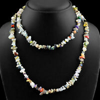 RARE 234.05 CTS NATURAL SINGLE STRAND MULTICOLOR MULTI GEMSTONE BEADS NECKLACE