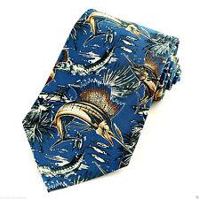 Sailfish Fishing Mens Necktie Jon Wright Artist Fish Fisherman Gift Silk Tie New