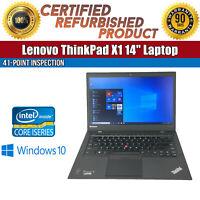 "C Grade Lenovo ThinkPad X1 14"" Intel i7-4600U 8 GB RAM 128 GB SSD Win 10 Laptop"