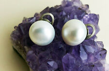 Amazing AAA 14MM SOUTH SEA PEARLS 14KT WHITE GOLD EARRINGS STUDS PUSH BACKs