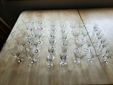 Delicate Crystal Hand Blown Etched Wheat Leaf with Dots Glasses- Lot of 38