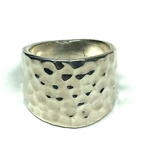 Premier Designs Size 7.5 Ring Jewelry Silver Reflections Hammered Style