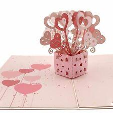Love Heart Balloons 3D pop up card