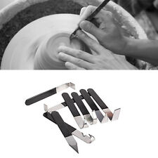 8 in 1 Pottery Clay Sculpture Carving Tools With Rubber Handle Stainless Steel