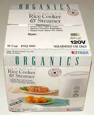 New listing Tiger Rice Cooker Steamer & Warmer with Timer 10 Cups Jnq-1801 Floral & White