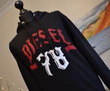 BNWT Diesel Negro Rojo Blanco con capucha con capucha top para hombre talla media cintura elástica