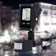 10W LED Foco Foco Faro con Sensor Movimiento Exterior Reflector IP65