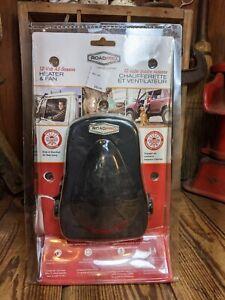 RoadPro RPSL-581 12V All Season Black Heater and Fan w/ Swivel Base