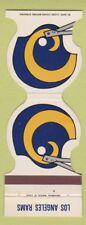 Matchbook Cover - Los Angeles Rams Football Pro Graphics Santa Ana CA 1980
