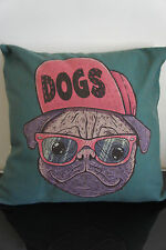 Vintage bulldog Cotton Linen Cushion Cover Home Decor Colorful FREE LOCAL POST