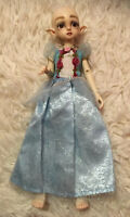Blue Formal Princess Dress w/ Rose Details for Barbie 1:6 Scale YOSD BJD Doll