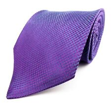 NEXT 100% Pure Silk Purple Blue Geometric Mens Tie