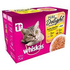 Whiskas 1+ Cat Pouch Pure Delight Poultry 12 x 85g - 262119