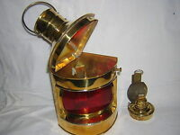 NAUTICAL BRASS PORT STARBOARD LANTERN  SHIP OIL LAMP  MARITIME BOAT RED LIGHT