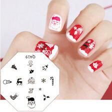 1Pc Christmas Snowflake Santa Nail Art Stamp Template Image Stamping Plate QA19