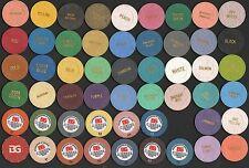 France Casino Chip Lot Manufacturers Sample colors BOURGOGNE ET GRASSET
