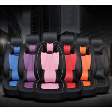 US Universal 5-Seats Car SUV 3D Seat Covers Black Front&Rear Cushions W/ Pillows