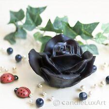 Schwarze Rose 9,5cm Kerzen Rosenblüte Rosenkerzen Trauer Beerdigung Trauerfeier