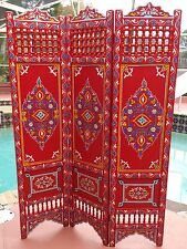 RED Moroccan Room Wood Divider Screen Partition Panel Wall Separated Separation