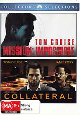 TOM CRUISE Mission Impossible / Collateral DVD R4 - PAL - New