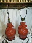 """Chinoiserie Lamps Set Of 2 Brown Elephant Lamps ,high And Low Settings 29"""" tall"""