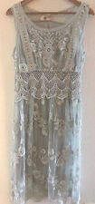 SUNDANCE CATALOG Lasting Love Lace Dress Platinum Size 16 Orig. $168 NWT
