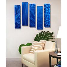 Blue Modern Metal Wall Art Contemporary Hanging Accent Jon Allen