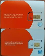 New At&T Att GoPhone Sim Card Regular Size 3G . Sku 6006A