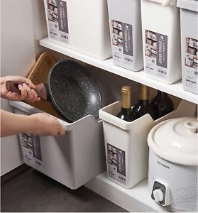 Storage Cabinet 2PCS Set Kitchen Box Seasoning Rack Drawer Organizer Basket