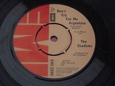 The Shadows : Don't Cry For Me Argentina - Montezuma's Revenge : EMI 2890