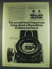 1978 Wallace Heaton Hasselblad 500CM Camera Ad