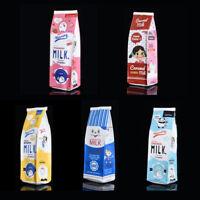 Kawaii Stationery Pouch Pen PU Creative Simulation Milk Carton Pencil Case Bag C
