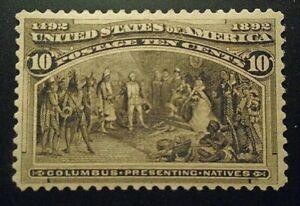 US stamp #237 mint OG NH VF