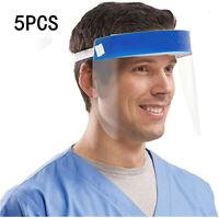 5Stück Transparent Face Shield mit Anti-Spritzmaske Anti-Speichel Gesichtsschutz