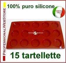 STAMPO STAMPI SILICONE 15 TARTELLETTE DOLCE DOLCI DESSERT TARTELLETTA TORTINE