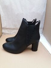 BODEN Alnwick Ankle Boots - Black Leather - Size UK 6/EU 39 RRP - £140