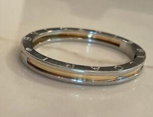 Bulgari B Zero Bangle Bracelet Stainless Steel 18k Gold