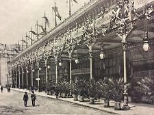 Exposition Universelle Paris 1889 promenoirs et cafés au Champ de Mars estampe