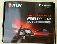 MSI Wi-Fi/Bluetooth PCI-E x 1 Adapter Intel 8265NGW IEEE 802.11 a/b/g/n/ac