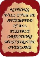 1048 Refrigerator Magnet Nothing Will Ever Be Attempted Inspirational Sayings
