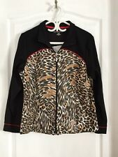 Women's Allison Daley Light Weight Animal Print Jacket - Size Petite 'M'  EUC